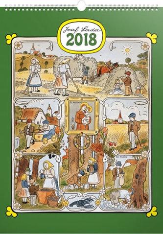 Kalendář nástěnný 2018 - J. Lada - Měsíce - neuveden