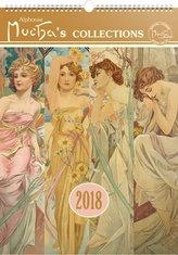 Kalendář nástěnný 2018 - Alfons Mucha, 33 x 46 cm