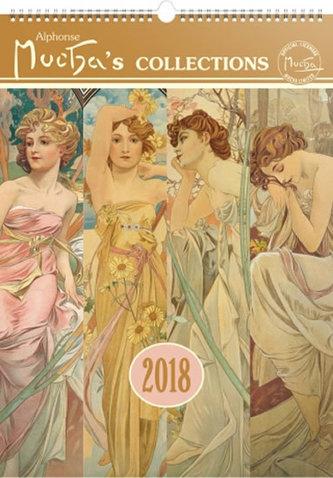 Kalendář nástěnný 2018 - Alfons Mucha, 33 x 46 cm - neuveden