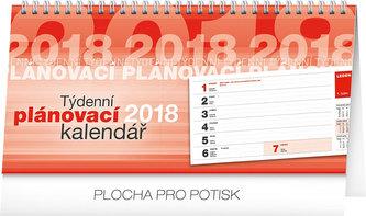 Kalendář stolní 2018 - Plánovací řádkový, 25 x 12,5 cm - neuveden