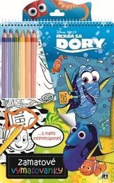 Zamatové vymaľovanky Hľadá sa Dory