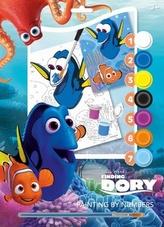 Maľovanie podľa čísel A4 Hľadá sa Dory