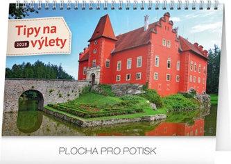 Kalendář stolní 2018 - Tipy na výlety, 23,1 x 14,5 cm - neuveden