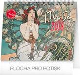 Kalendář stolní 2018 - Alfons Mucha, 16,5 x 13 cm