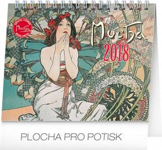 Kalendář stolní 2018 - Alfons Mucha, 16,5 x 13 cm - neuveden