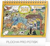 Kalendář stolní 2018 - Josef Lada – Zvířátka, 16,5 x 13 cm
