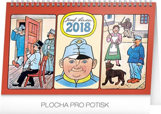 Kalendář stolní 2018 - Josef Lada – Švejk, 23,1 x 14,5 cm - neuveden