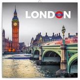 Kalendář poznámkový 2018 - Londýn, 30 x 30 cm