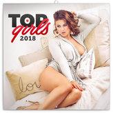 Kalendář poznámkový 2018 - Top Girls – Martin Šebesta, 30 x 30 cm