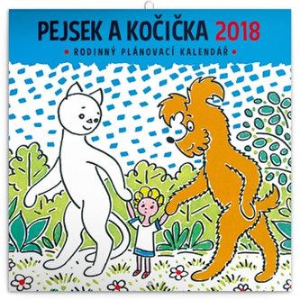 Kalendář poznámkový 2018 - Pejsek a kočička, 30 x 30 cm - neuveden
