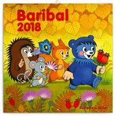 Kalendář poznámkový 2018 - Baribal, 30 x 30 cm