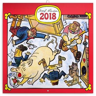 Kalendář poznámkový 2018 - Josef Lada – Řemesla, 30 x 30 cm - neuveden