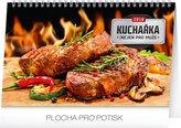 Kalendář stolní 2018 - Kuchařka (ne)jen pro muže, 23,1 x 14,5 cm