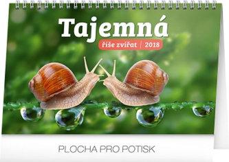 Kalendář stolní 2018 - Tajemná říše zvířat, 23,1 x 14,5 cm - neuveden