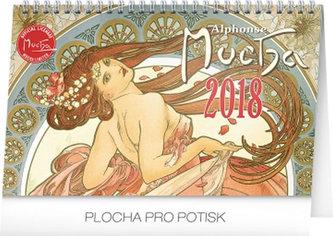 Kalendář stolní 2018 - Alfons Mucha, 23,1 x 14,5 cm - neuveden