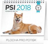 Kalendář stolní 2018 - Psi – se jmény psů, 16,5 x 13 cm