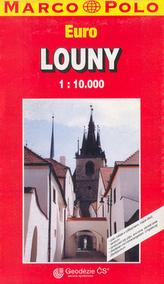 Louny/plán s rejstříkem  GCS 1:10T