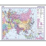 Asie - příruční politická mapa A3/1: 35 mil.
