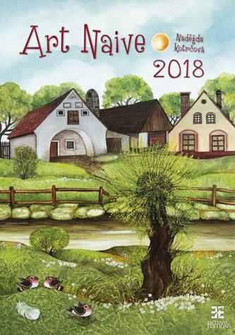 Kalendář nástěnný 2018 - Art Naive/Exclusive - Kotrčová Naděžda