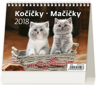 Kalendář stolní 2018 - MiniMax/Kočičky - neuveden