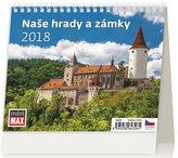 Kalendář stolní 2018 - MiniMax/Naše hrady a zámky
