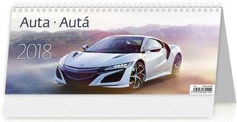 Kalendář stolní 2018 - Auta 321x134 - neuveden