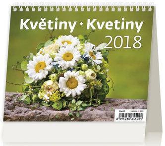 Kalendář stolní 2018 - MiniMax/Květiny - neuveden