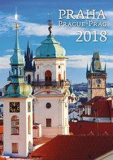 Kalendář nástěnný 2018 - Praha 450x315