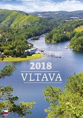 Kalendář nástěnný 2018 - Vltava