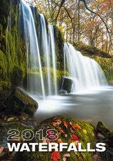 Kalendář nástěnný 2018 - Waterfalls