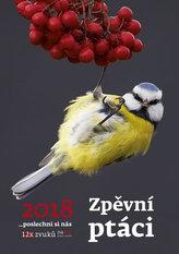 Kalendář nástěnný 2018 - Zpěvní ptáci