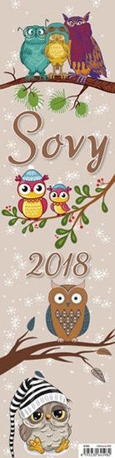 Kalendář nástěnný 2018 - Sovy
