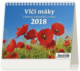 Kalendář stolní 2018 - Vlčí máky - neuveden