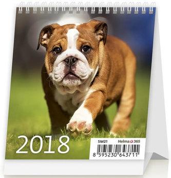 Kalendář stolní 2018 - Mini Puppies - neuveden