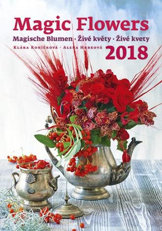 Kalendář nástěnný 2018 - Živé květy - neuveden