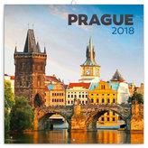 Kalendář poznámkový 2018 - Praha letní, 30 x 30 cm