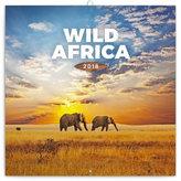 Kalendář poznámkový 2018 - Divoká Afrika, 30 x 30 cm