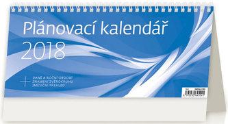 Kalendář stolní 2018 - Plánovací kalendář/modrý - neuveden