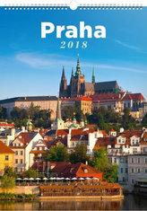 Kalendář nástěnný 2018 - Praha, 33 x 46 cm