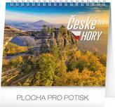 Kalendář stolní 2018 - České hory, 16,5 x 13 cm