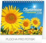 Kalendář stolní 2018 - Slunečnice s citáty, 16,5 x 13 cm