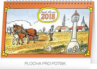 Kalendář stolní 2018 - Josef Lada – Na poli, 23,1 x 14,5 cm - neuveden