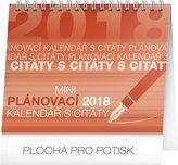 Kalendář stolní 2018 -  Plánovací s citáty 2018, 16,5 x 13 cm