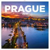 Kalendář poznámkový 2018 - Praha nostalgická, 30 x 30 cm