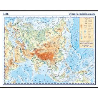 Asie - školní nástěnná obecně zeměpisná mapa, 1:13 mil./136x96 cm - neuveden