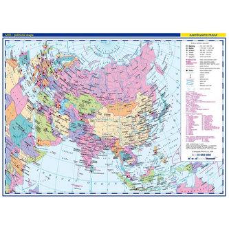 Asie - školní nástěnná politická mapa 1:10 mil./136x96 cm
