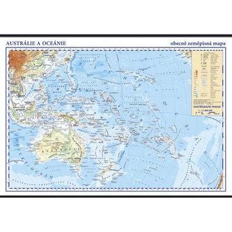 Austrálie a Oceánie - školní nástěnná zeměpisná mapa 1:13 mil./136x96 cm - neuveden
