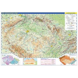Česká republika - školní nástěnná fyzická mapa 1:375 tis./136x96 cm - neuveden