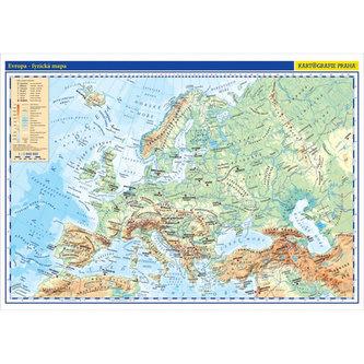 Evropa - školní fyzická nástěnná mapa, 136x96 cm/1:5 mil. - neuveden