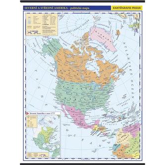 Severní a střední Amerika - školní nástěnná politická mapa 1:10 mil./96x126,5 cm - neuveden